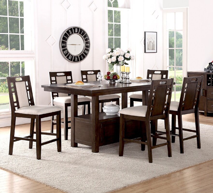 Winston Porter Nika 7 Piece Counter Height Dining Set   Reviews   Wayfair. Winston Porter Nika 7 Piece Counter Height Dining Set   Reviews