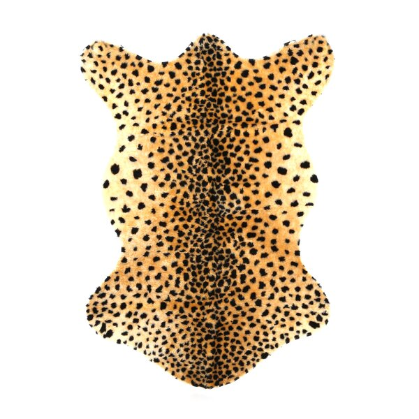 Animal Black/Tan Cheetah Area Rug by Walk On Me