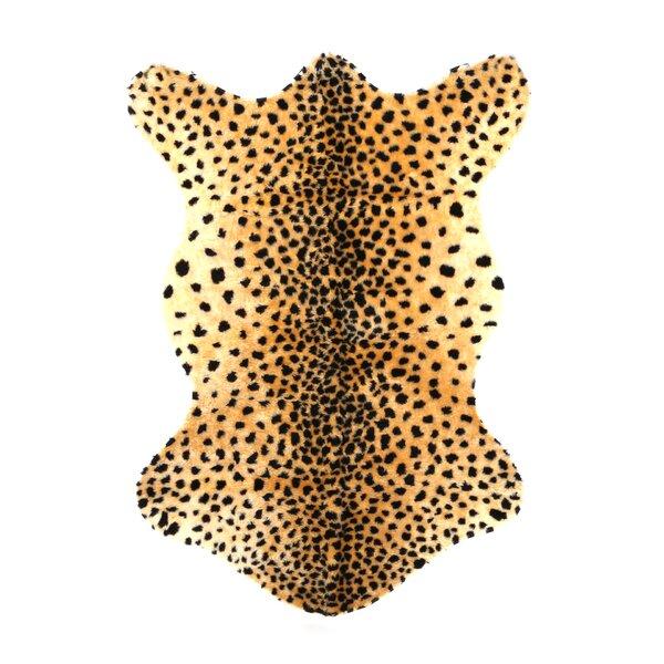 Animal Black/Tan Cheetah Area Rug by Walk On Me