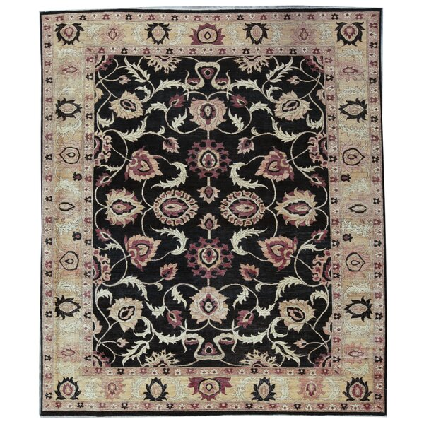 One-of-a-Kind Zarbof Quality Hand-Knotted 10'8 x 12'9 Wool Black Area Rug