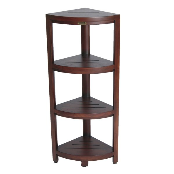 Oasis 4-Tier Teak 12 W x 38 H Bathroom Shelf by De