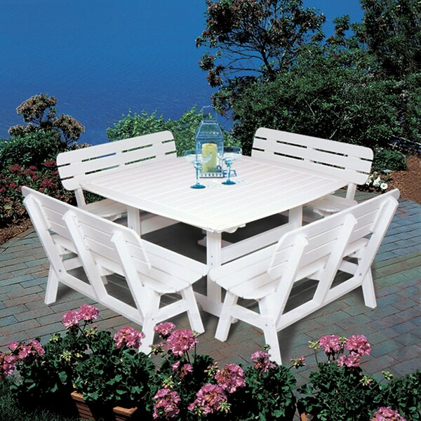 Massimo Plastic Dining Table by Rosalind Wheeler