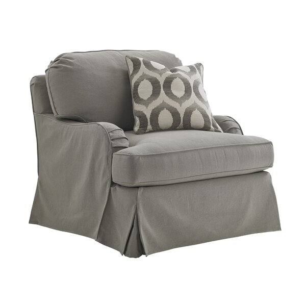 Oyster Bay Slipcover Swivel Armchair by Lexington