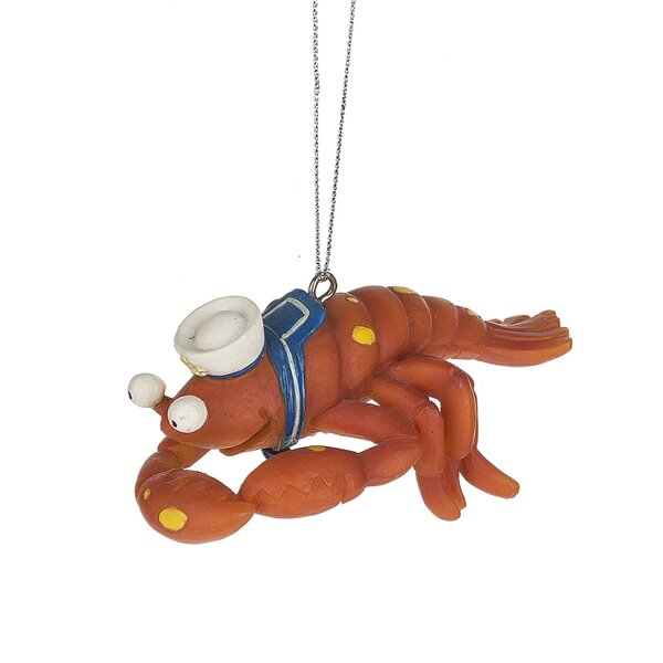 Lobster Hanging Figurine by Highland Dunes