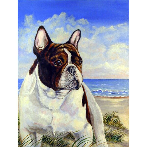 French Bulldog at the Beach House Vertical Flag by Caroline's Treasures