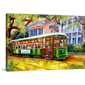 'Streetcar in the Garden District' by Diane Millsap Painting Print on Canvas by Canvas On Demand