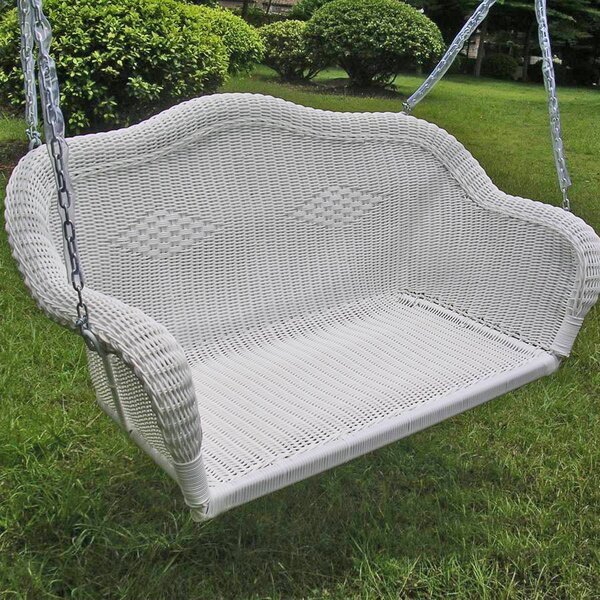 Soucy Wicker Porch Swing by Bay Isle Home