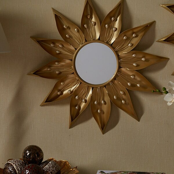 Quinn Sunburst Wall Mirror by A&B Home