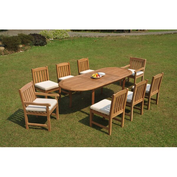 Roiguez 9 Piece Teak Dining Set by Rosecliff Heights