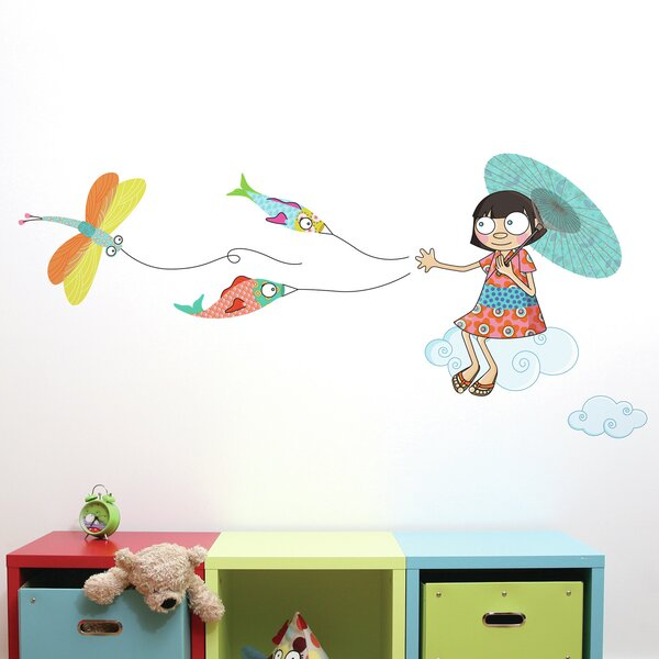 Cecelia Over the Clouds Wall Sticker/Decal by Harriet Bee