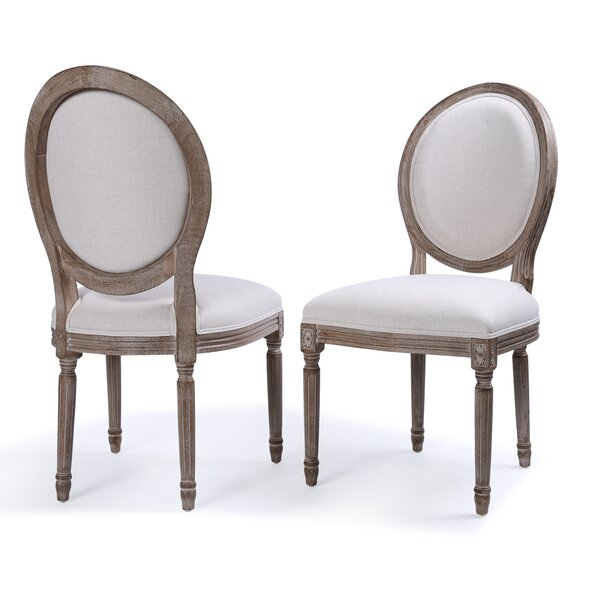 Agda Classic Elegant Traditional Upholstered Dining Chair (Set of 2) by One Allium Way