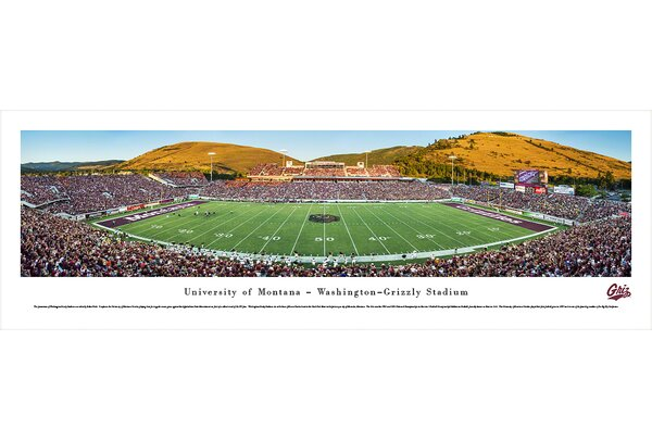 NCAA Montana, University of by Robert Pettit Photographic Print by Blakeway Worldwide Panoramas, Inc