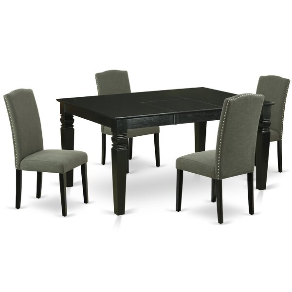 Clotario 5 Piece Extendable Solid Wood Dining Set by Winston Porter Winston Porter