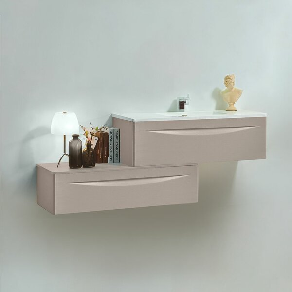 Felisa 89 Wall-Mounted Single Bathroom Vanity Set