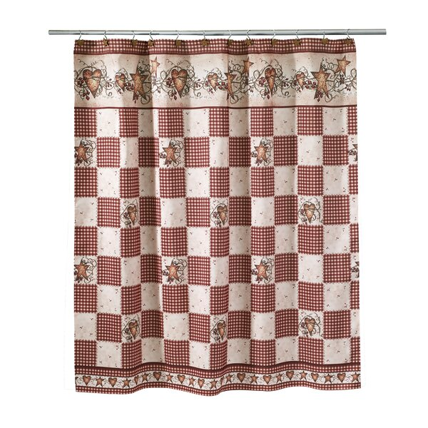 Culbert Hearts & Stars Shower Curtain by August Grove