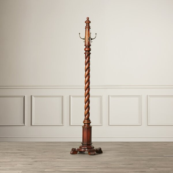 Costumer Hand-Carved Coat Rack by Astoria Grand