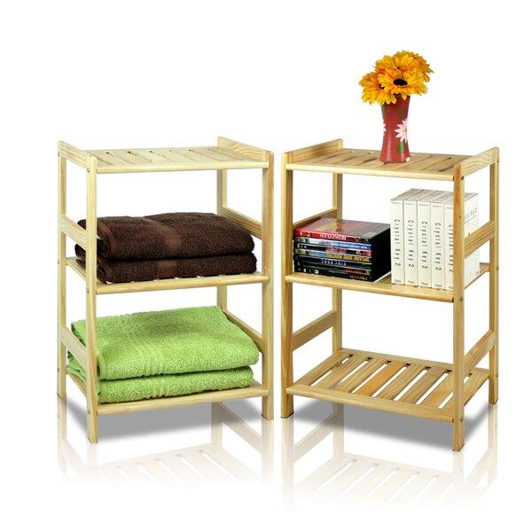Pine 3 Tier Storage Shelf (Set of 2) by Furinno