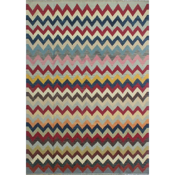 Dickie Hand-Knotted Wool Brown/Blue Area Rug by Bloomsbury Market