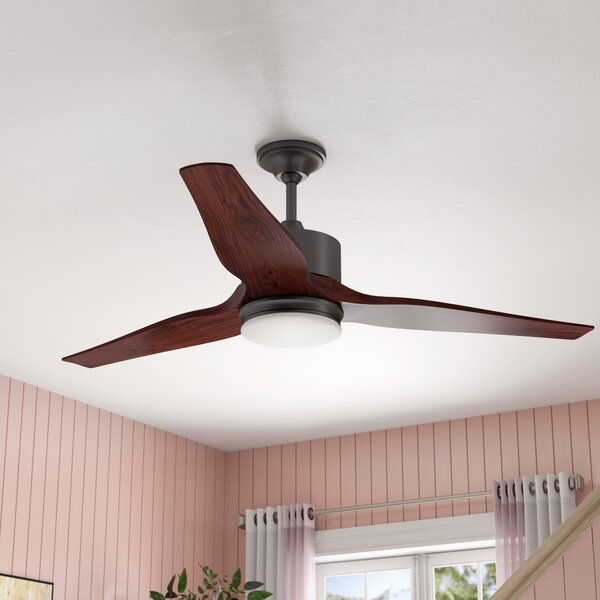 60 Dominique 3 Blade Outdoor LED Ceiling Fan with Remote by Brayden Studio