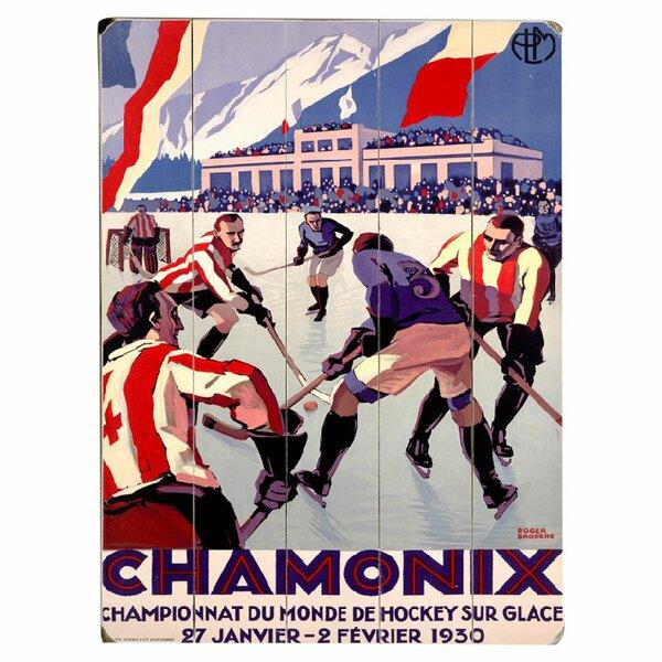 Chamonix Vintage Advertisement Multi-Piece Image on Wood by Artehouse LLC