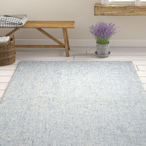Marsh Hand-Tufted Wool Blue Area Rug by Gracie Oaks