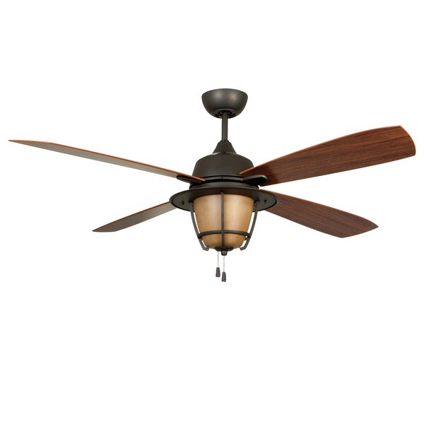56 Faya 4-Blade Ceiling Fan with Downrod by Longshore Tides