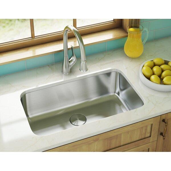30 L x 18 W Undermount Kitchen Sink With Basket Strainer