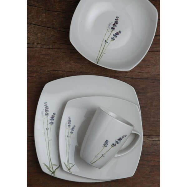 Porcelain 32 Piece Dinnerware Set, Service for 8 by Melange