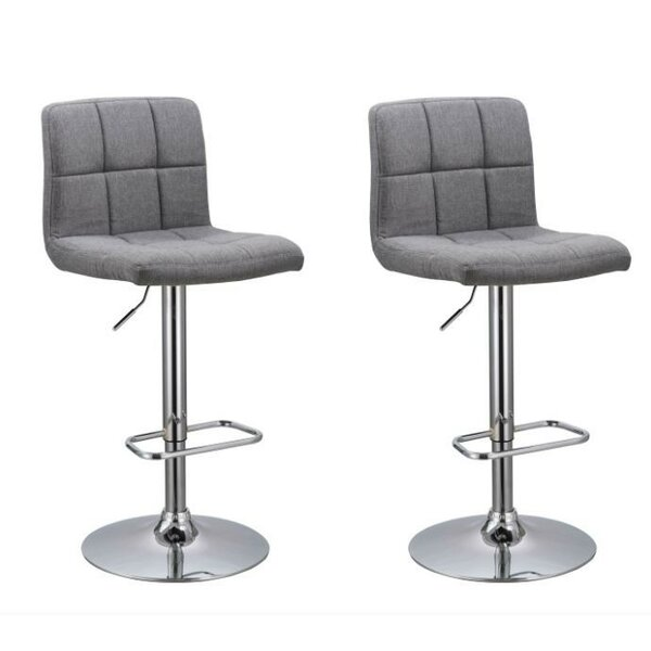 Park Ridge Adjustable Height Swivel Bar Stool (Set of 2) by Orren Ellis