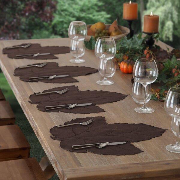 Swaying Leaves Fabric Placemat (Set of 4) by Elrene Home Fashions