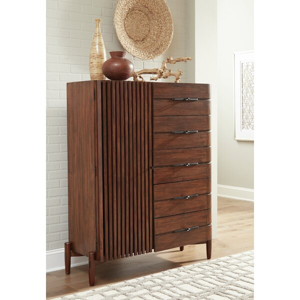 Cobbs -Drawer Desert Teak Armoire by Corrigan Studio