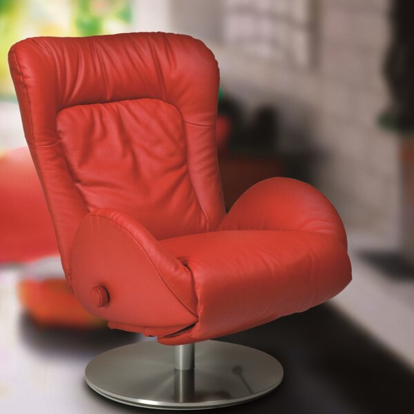 Amy Leather Recliner by Lafer