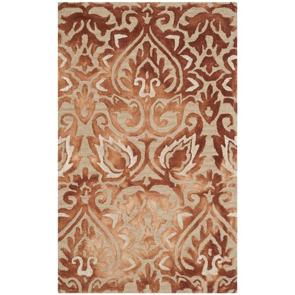 Brennan Hand-Tufted Wool Copper Area Rug by Bungalow Rose