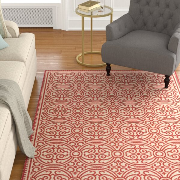 Altizer Red/Cream Area Rug by Darby Home Co