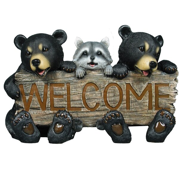 Kenyon Bear Welcome Garden Sign Figurine by Loon Peak