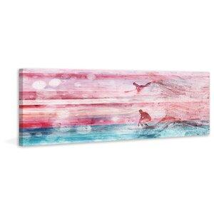 'Riding Waves' by Parvez Taj Painting Print on Wrapped Canvas by Parvez Taj