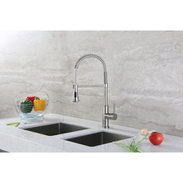 Pull Down Single Handle Kitchen Faucet by Luxier