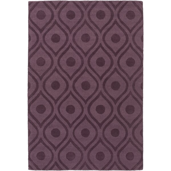 Castro Hand Woven Wool Purple Area Rug by Wrought Studio
