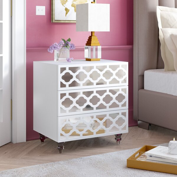 Connie 3 Drawer Nightstand by Everly Quinn