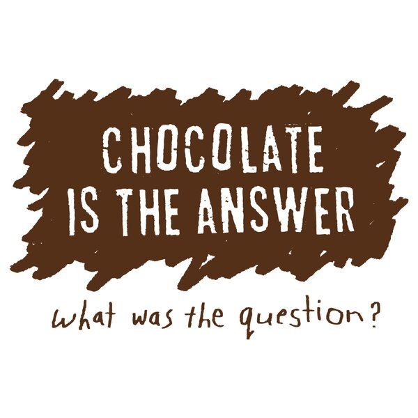 Chocolate is the Answer Apron by Attitude Aprons by L.A. Imprints