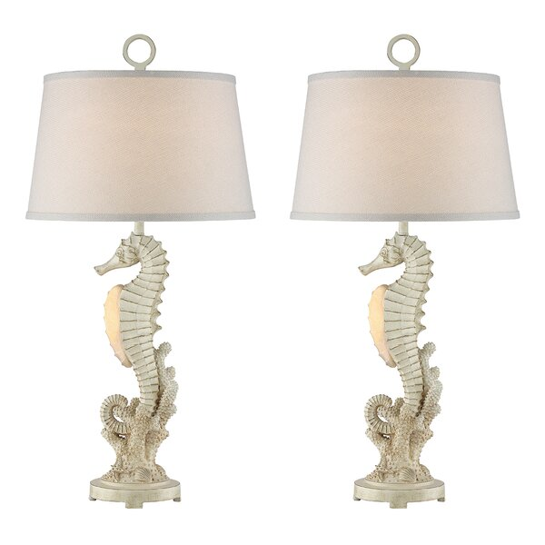 Cardenas Seahorse 30 Table Lamp (Set of 2) by Rosecliff Heights