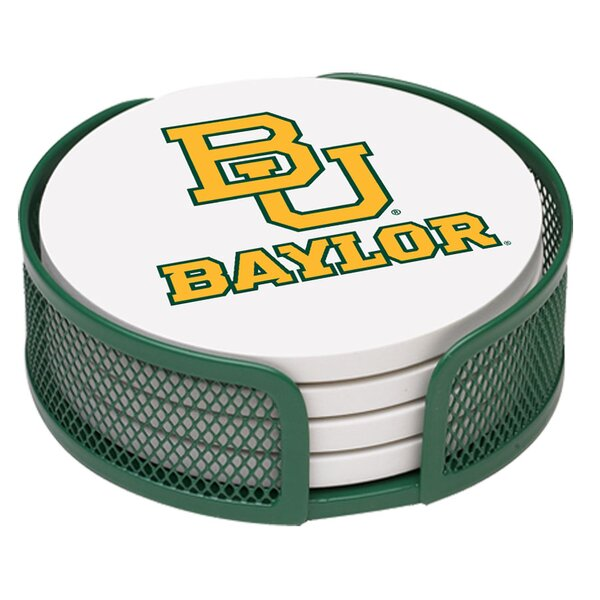 5 Piece Baylor University Collegiate Coaster Gift Set by Thirstystone