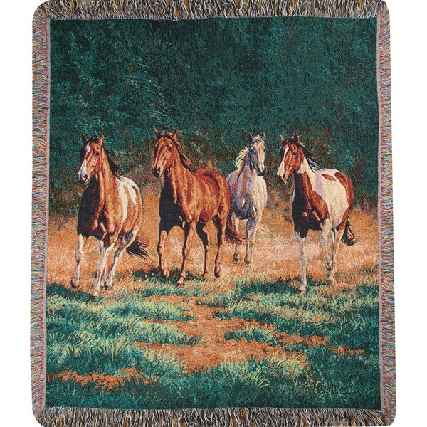 Evening 2 Tapestry Cotton Throw by Manual Woodworkers & Weavers