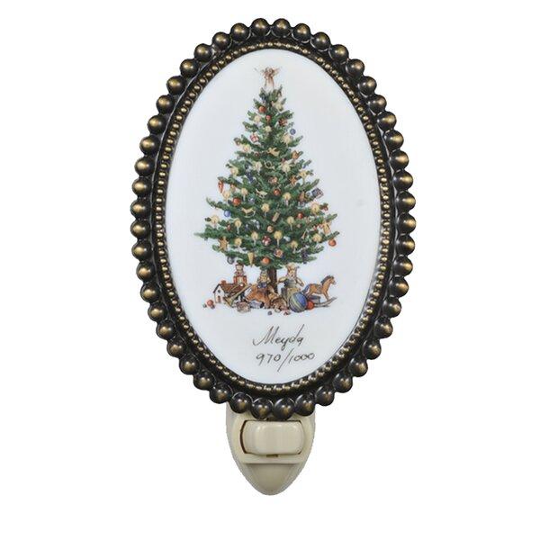Christmas Christmas Tree Fused Oval Night Light by Meyda Tiffany