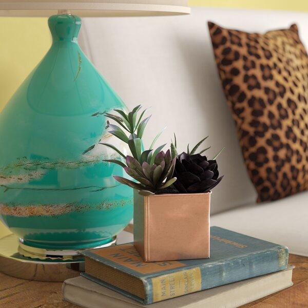 Artificial Desktop Mixed Succulent Arrangement Plant in Pot by Bungalow Rose