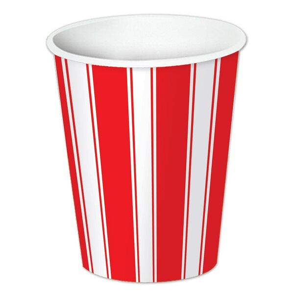 Circus Stripe 9 oz. Beverage Cup (Set of 12) by The Beistle Company
