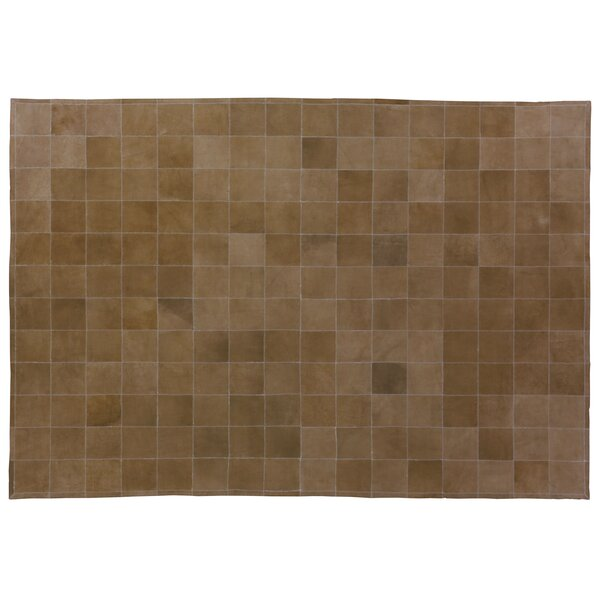 Suede Hand Woven Light Brown Area Rug by Exquisite Rugs