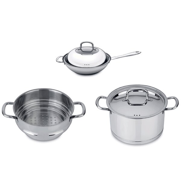CollectNCook 5 Piece Non-Stick Vegetable Stir-Fry Cookware Set by BergHOFF International