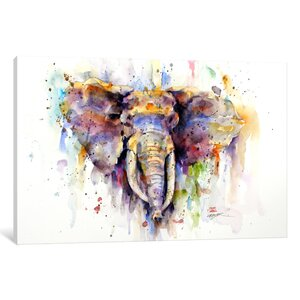 'Elephant' Painting Print on Wrapped Canvas by World Menagerie