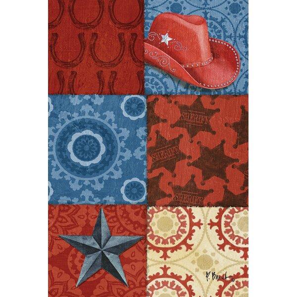 Cowboy Collage Garden flag by Toland Home Garden